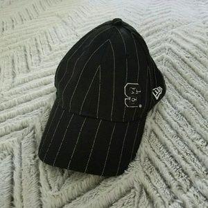NC State Wolfpack Black Pinstripe Hat